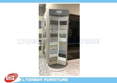 Silver Rotate Round Wooden Display Stands For Mosaic Selling Painting Display