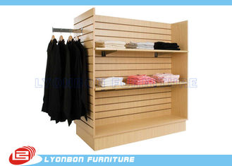 Supermarket SGS Slatwall Display Stands For T - Shirt , Custom Color Printing