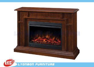 Solid Wood Veneer Decorating Fireplace