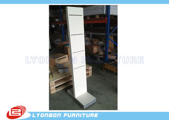 White Wooden Display Racks Customize For Shop , Exhibit Display Stands