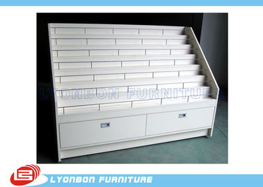 White OEM MDF Advertisement Display Stands / 1700mm * 650mm * 1200mm